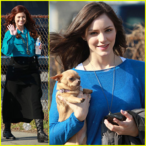 Katharine McPhee: 'Smash' Set with Debra Messing!