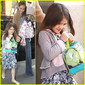 Katie Holmes & Suri Cruise: Balthazar Lunch in NYC!