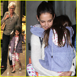 Katie Holmes & Suri: Dinner with Grandma Kathleen!