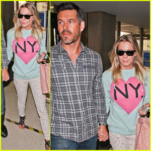 LeAnn Rimes & Eddie Cibrian Take Off for Texas