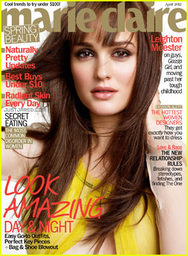 Leighton Meester Covers 'Marie Claire' April 2012