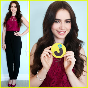 Lily Collins: JustJared.com Exclusive Interview!