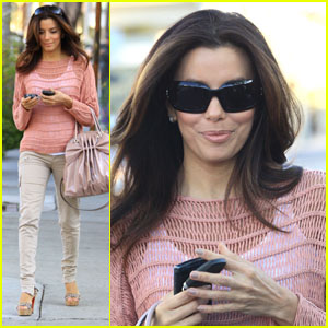 Eva Longoria: Saturday Salon Stop!