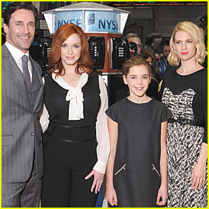 Christina Hendricks: 'Mad Men' Cast Rings NYSE Opening Bell