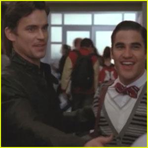 Matt Bomer Kisses Jane Lynch on 'Glee'