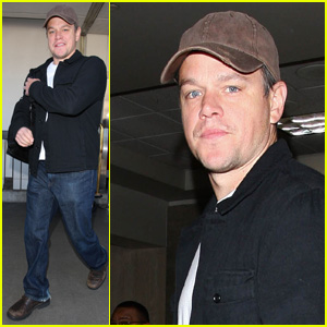 Matt Damon: Back in L.A. with Luciana!