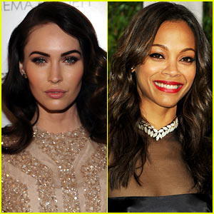 Megan Fox & Zoe Saldana: 'Swindle' Stars!