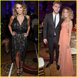 Miley Cyrus & Liam Hemsworth: Celebrity Fight Night!