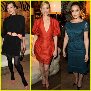 Milla Jovovich & Abbie Cornish: Restoration Hardware Launch!