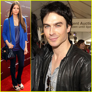 Ian Somerhalder & Nina Dobrev Hit Up the John Varvatos Stuart House Benefit!