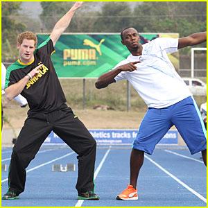 Prince Harry & Usain Bolt Jog in Jamaica