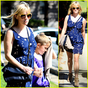 Reese Witherspoon: Basketball Practice with Deacon!