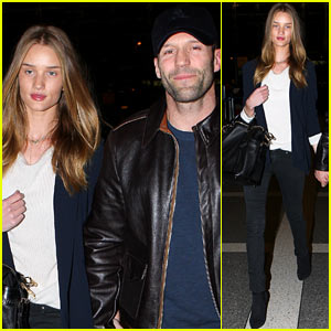 Rosie Huntington-Whiteley & Jason Statham: LAX Lovebirds!