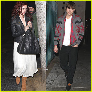 Ashton Kutcher Watches Rumer Willis Sing at Sayers Club