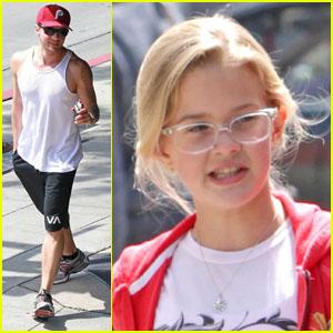 Ryan Phillippe & Ava: Daddy Daughter Bonding Time!