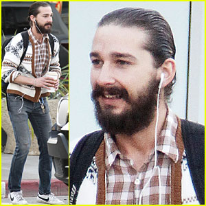 Shia LaBeouf Debuts Beard in Los Angeles
