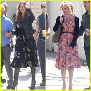 Sofia Vergara & Julie Bowen: Floral for 'Modern Family'!