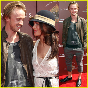 Tom Felton: John Varvatos Stuart House Benefit with Jade Olivia!