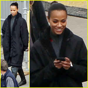 Zoe Saldana: 'Star Trek' Set with John Cho!