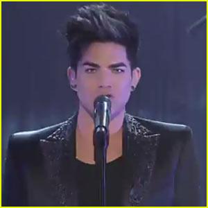 Adam Lambert Performs 'Trespassing' Live - Watch Now!