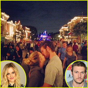 Alex Pettyfer & Riley Keough: Kissing at Disneyland!