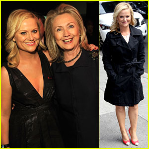 Amy Poehler Meets Hillary Clinton at Time 100 Gala