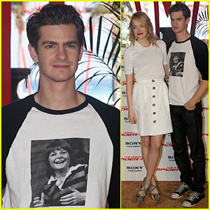 Andrew Garfield: Michael J. Fox T-Shirt!