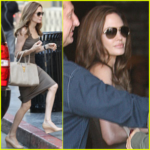 Angelina Jolie Steps Out After Engagement Announcement