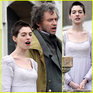 Anne Hathaway & Hugh Jackman: 'Les Mis' Filming!