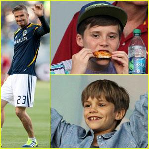 Beckham Boys Cheer Dad Against Dallas