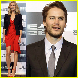 Brooklyn Decker &#038; Taylor Kitsch: 'Battleship' in Seoul!