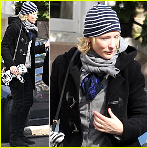 Cate Blanchett: Bundling Up in Britain!
