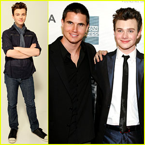 Chris Colfer: 'Struck By Lightning' Premiere with Robbie Amell!
