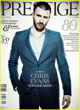 Chris Evans Covers 'Prestige' April 2012