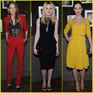 Dakota Fanning: Elie Saab Dinner with Emily Blunt!