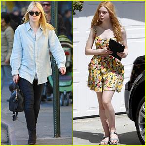Dakota & Elle Fanning: Busy Sisters!