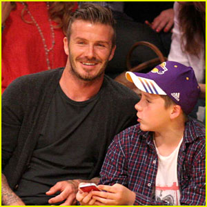 David Beckham: Lakers Game with Brooklyn!