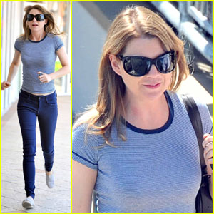 Ellen Pompeo Leaves Lunch in a Hurry