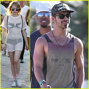 Emma Roberts & Joe Jonas: Coachella Weekend 2!