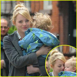 Emma Stone Carries Andrew Garfield's Nephews
