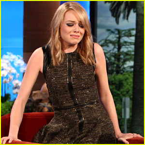 Emma Stone Discusses Kissing Her Co-Stars On 'Ellen'!