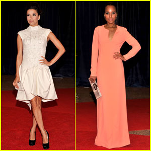 Eva Longoria & Kerry Washington - White House Correspondents' Dinner 2012