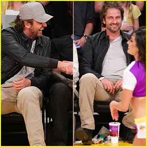 Gerard Butler: Lakers Courtside Tickets!