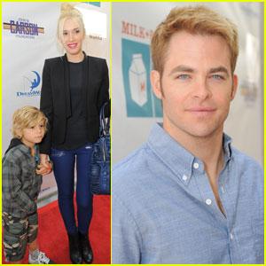 Gwen Stefani & Chris Pine: Milk + Bookies Story Time!