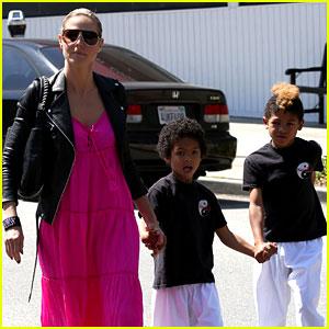 Heidi Klum Takes Kids to Karate Following Divorce Filing