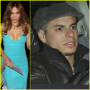Jennifer Lopez & Casper Smart: Birthday Dinner Date!