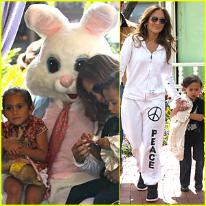 Jennifer Lopez: Easter Bunny with the Twins!