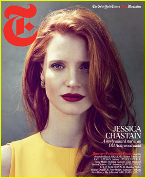 jessica chastain t magazine cover for new york times