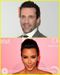 Jon Hamm & Kim Kardashian: Calling a Truce?