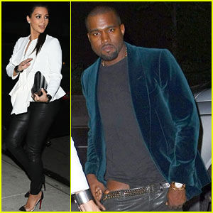 Kim Kardashian & Kanye West: Dinner Date Night!